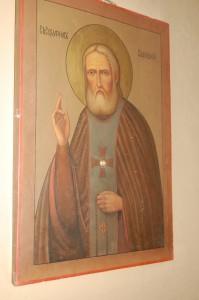 Икона преподобного Серафима Саровского с частицей мантии