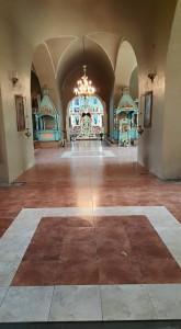 Трапезная часть Храма-плитка